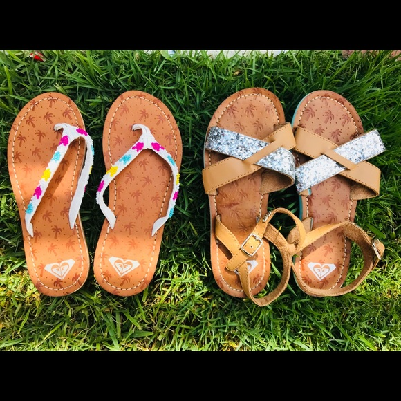 a3b756dace481 New Roxy Girl Faux Leather Summer Sandals